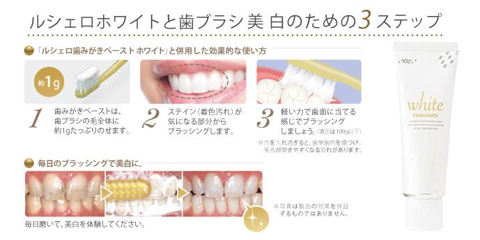 歯磨き ペースト ホワイト ルシェロ